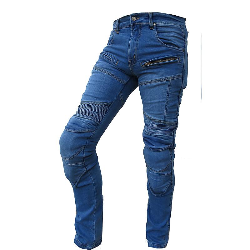 negozio online af79c 2c4eb Pantaloni Jeans Moto Tecnici HR-777